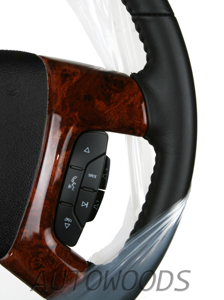 2007 2008 2009 2010 2011 Suburban Avalanche Steering Wheel Burl Spoke Covers