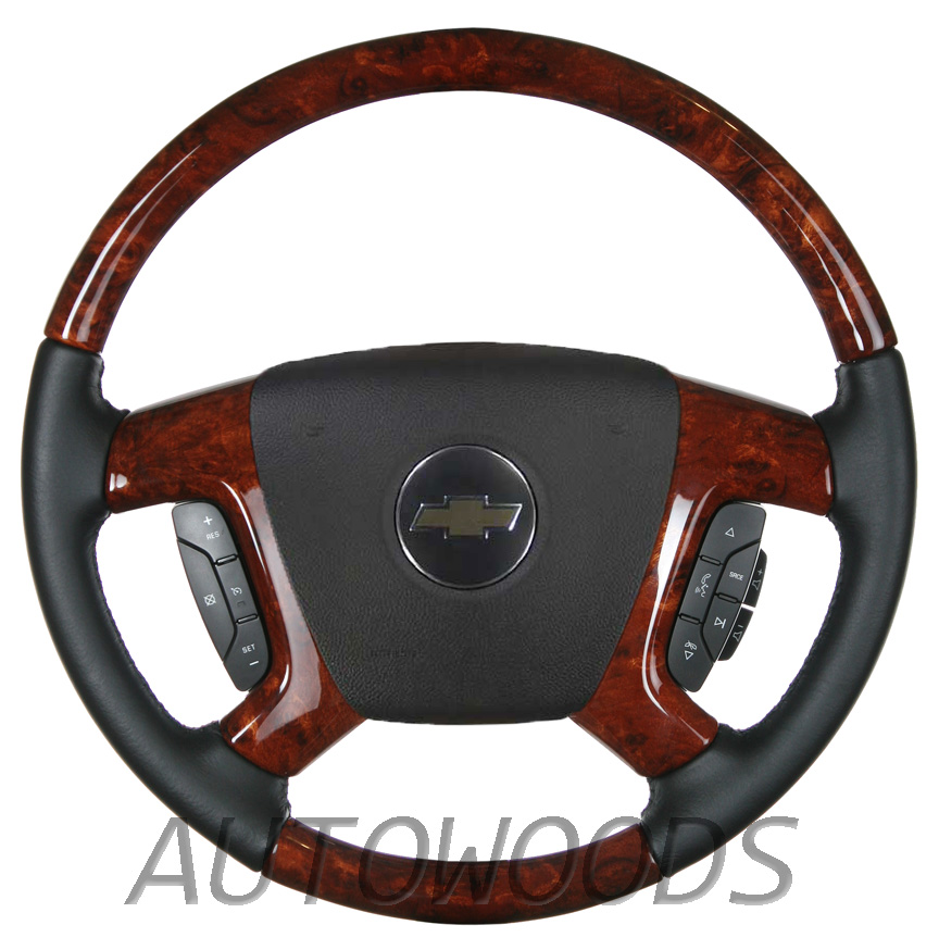 Wood Leather OEM Steering Wheel for 2007 2008 2009 Accessory Trim